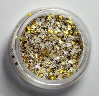 Снежок тёмно-золотой  для дизайна ногтей