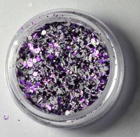 Снежок фиолетовый  для дизайна ногтей