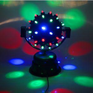 Диско-шар светодиодный со звуковой активацией, диаметр 22 см, двухосный