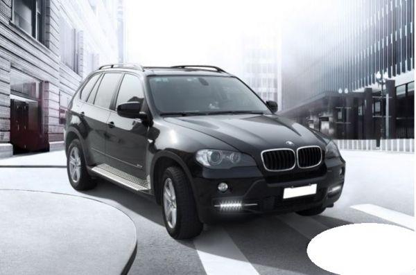 Дневные ходовые огни BMW X5 E70 2006-2010 silver