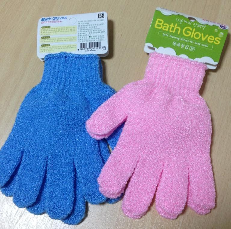 Отшелушивающие банные перчатки 2шт