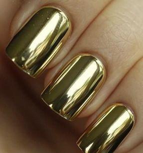 Накладные ногти. Золото