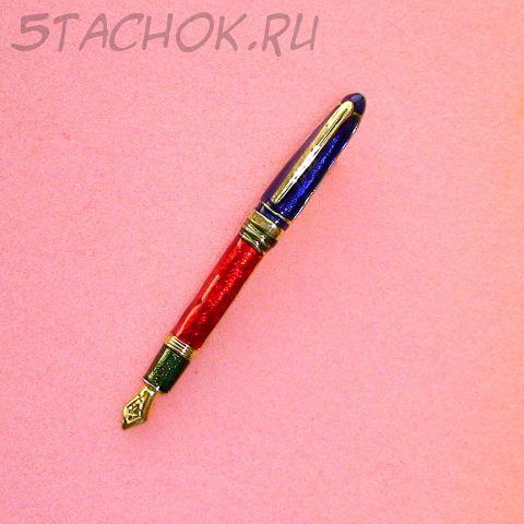"""Брошь """"Ручка"""" под золото, эмаль"""