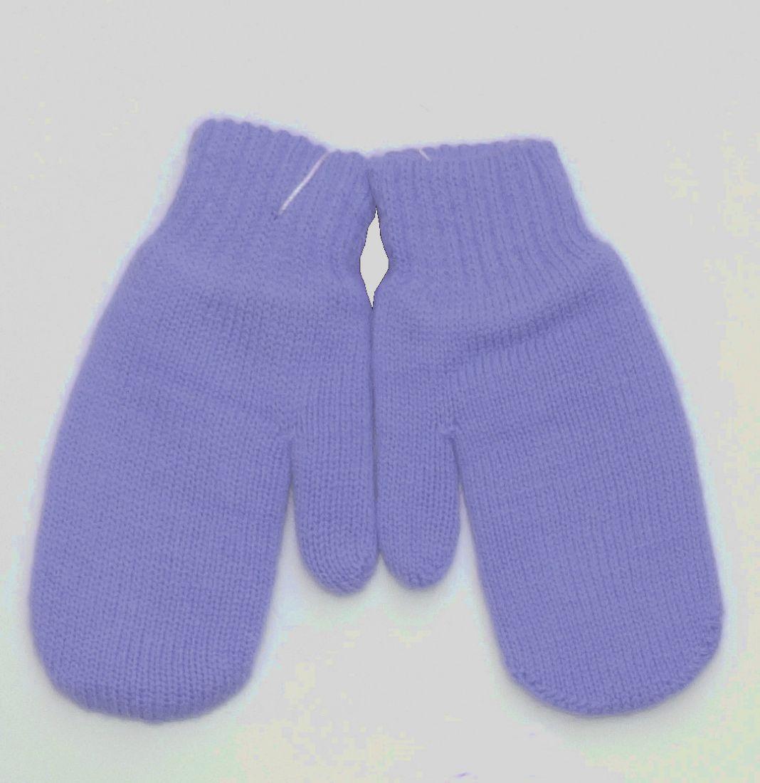 Голубые варежки для мальчика 0-6 месяцев