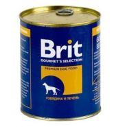 Brit Beef & Liver - Говядина и печень, консервы для собак (850 г)
