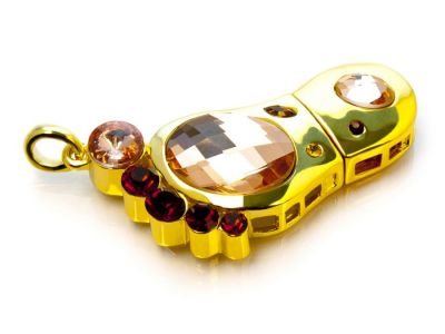 4GB USB-флэш накопитель Apexto UJ6277  Ступня в кристаллах