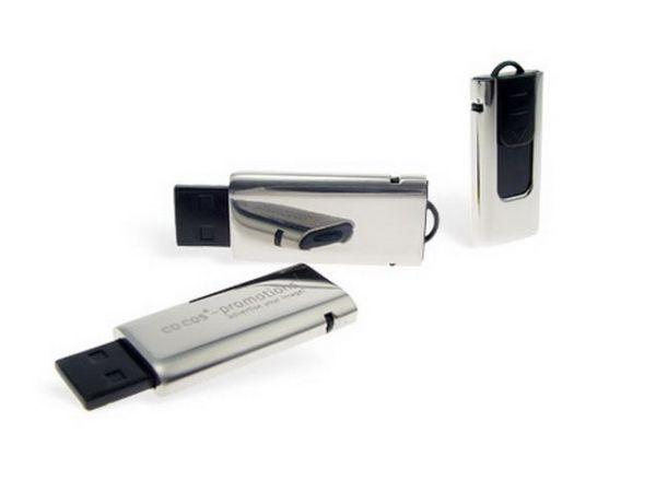 8GB USB-флэш накопитель Apexto UM622A слайдер серебряный, полированый