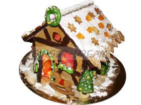 Пряничные домики на заказ с подсветкой Сладкие подарки новогодние