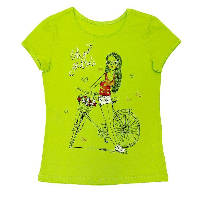 Блуза для девочки цвета лайм