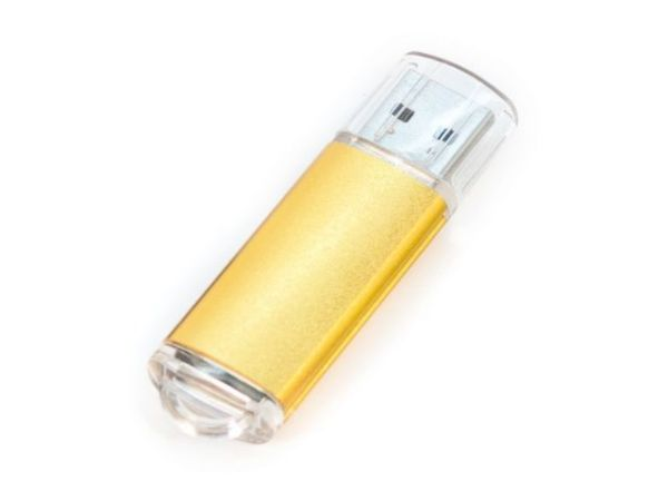 8GB USB-флэш накопитель Apexto U307B, золотой с прозрачным колпачком