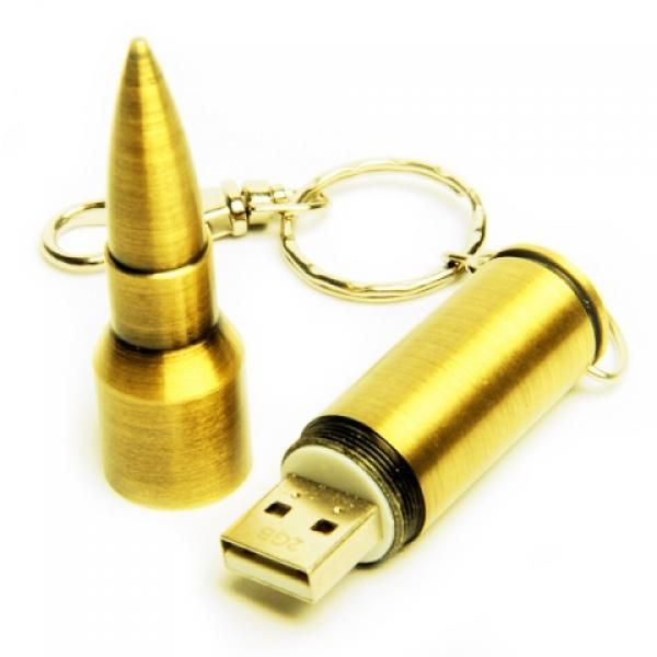 4GB USB-флэш накопитель Apexto UM-505A Пуля caliber 7.62, золотая