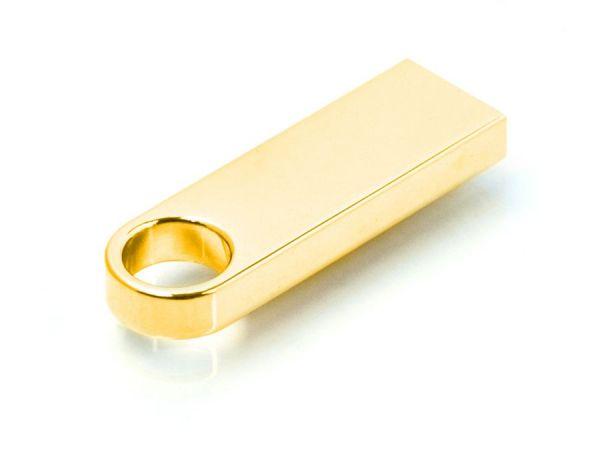 16GB USB-флеш накопитель Apexto U904A металлический брелок золотой