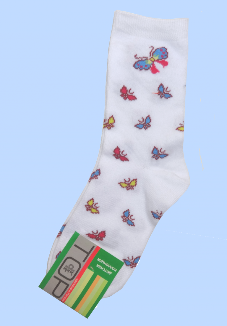 Носки белые Бабочки