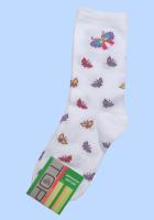 Детские белые носки Бабочки