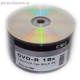 Диски (болванки) CMC DVD+R 4,7Gb 16x Printable bulk 50 шт.