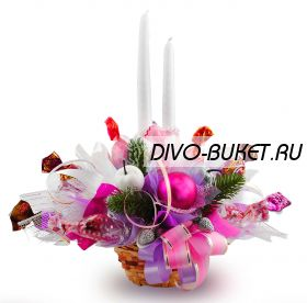 """Букет из конфет №409 """"Новогодняя миниатюра"""""""