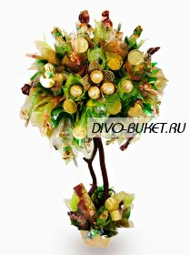 """Денежное дерево из конфет №225 """"Топиарий денежный"""""""