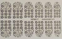 """Наклейки для ногтей """"Черные"""" NFM 017"""