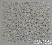 """Наклейка для дизайна ногтей на клеевой основе """"Серебро"""" BM - 19S"""