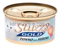 Stuzzy Gold консервы для кошек (кусочки тунца с крабовыми палочками в собственном соку)