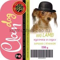 CLAN консервы д/собак Барбекю с ягненком