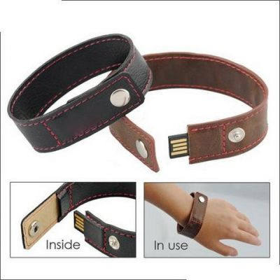 32GB USB-флэш накопитель Apexto U503O коричневый кожаный браслет
