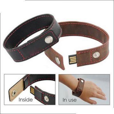 64GB USB-флэш накопитель Apexto U503O черный кожаный браслет