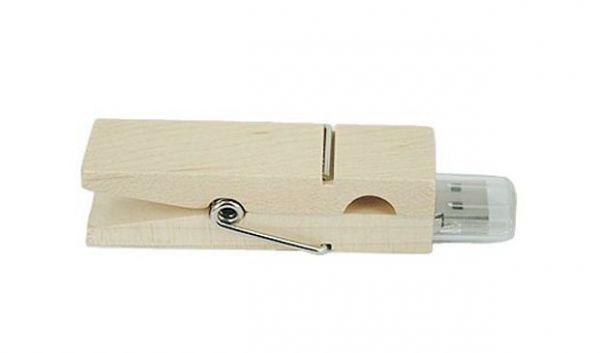 32GB USB-флэш накопитель Apexto UW-0034 Прищепка, сосна