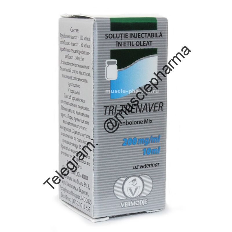 Tri-Trenaver 200 mg/ml 1 флакон * 10 мл. (Trenbolon  Mix). Три-тренболон.