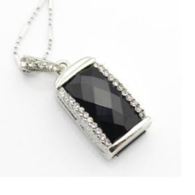 "Флешка - Кулон ""Черный бриллиант"" (8GB)"