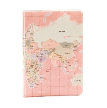 """Обложка для паспорта """"World Map"""" - Pink"""