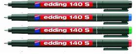 Набор маркеров E-140 permanent 0.3мм (для пленок и ПВХ) набор:черный,красный,зеленый,синий