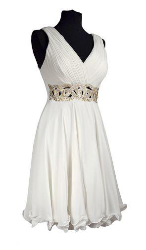 Шифоновое платье с оригинальным расшитым бисером поясом
