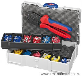 Набор кабельных наконечников с инструментом для опрессовки KNIPEX 97 90 21