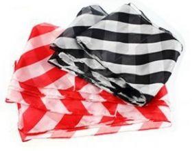Шелковый стример зебра красная или черная полоска 500*17 см