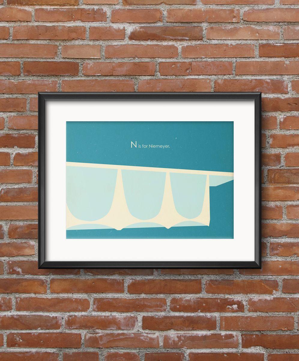 Винтажный постер N is for Niemeyer