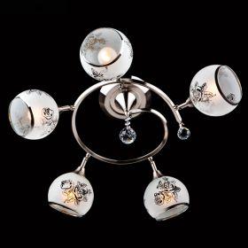 Люстра ES 9611/5 серебро/белый