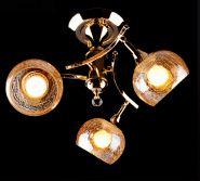 Люстра ES 3353/3 золото/коричневый