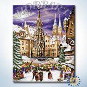 """Картина по номерам """"На рождественской ярмарке"""""""