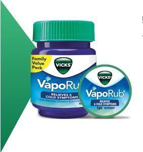 Бальзам от простуды Vicks Vapo Rub 25 г, 50 г (отправка из Индии)