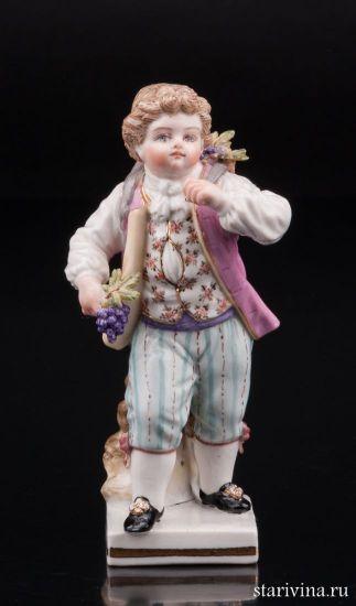 Мальчик с корзиной винограда, Meissen, Германия, 19 в.