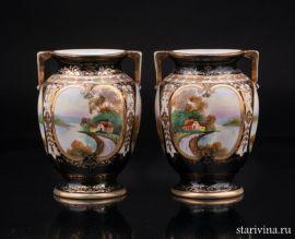 Две вазы, Норитаке (Noritake), Япония, 1920-40 гг, артикул 01397