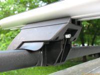 Багажник на рейлинги Евродеталь, аэродинамические дуги (черный цвет)