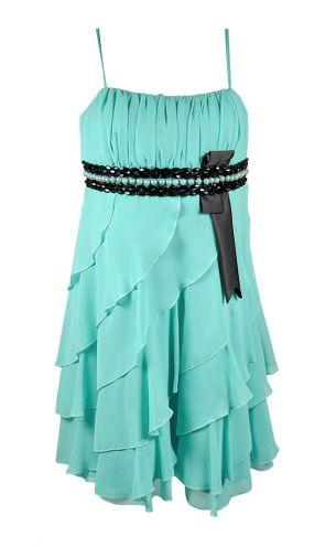 Оригинальное короткое платье из шифона