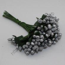 пучок веточек 10шт, цвет серебро
