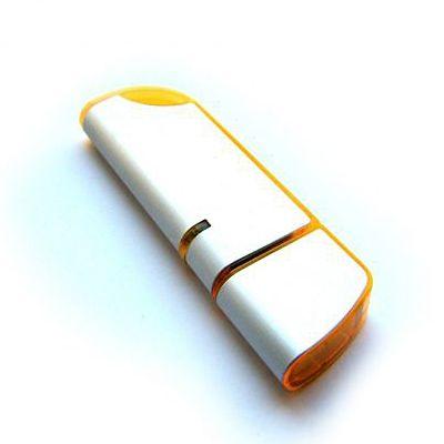 8GB USB-флэш накопитель Apexto U207 металлическая с оранжевой вставкой