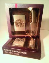 Набор подарочный: зажигалка и карманный многофункциональный инструмент RemiLing