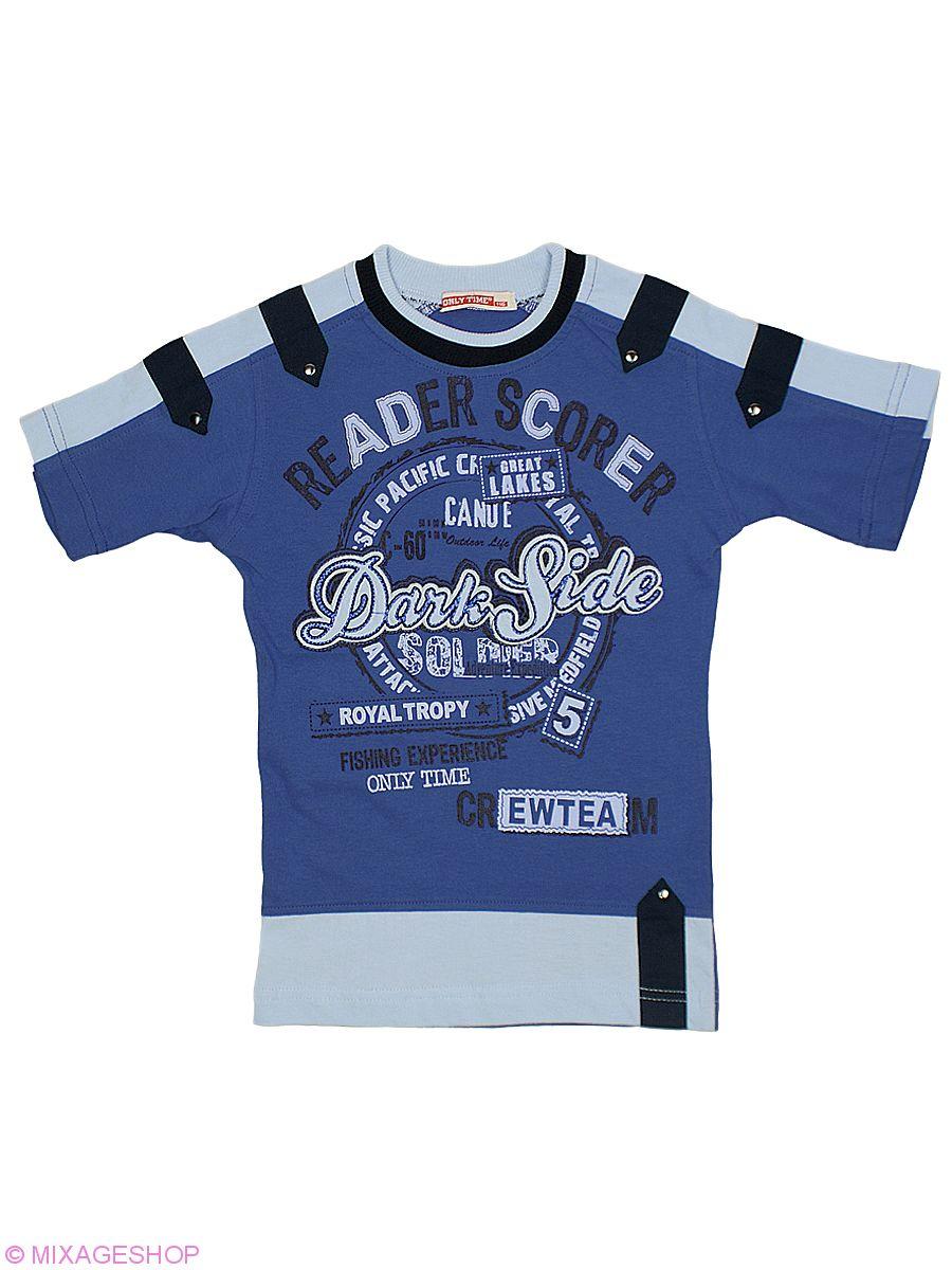 Стильная трикотажная футболка с заклепками и печатным рисунком