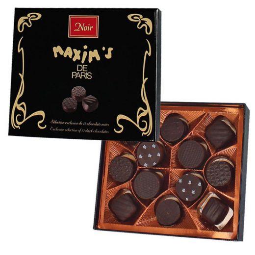 Конфеты шоколадные Maxim`s Конносье из горького шоколада - 120 г (Франция)