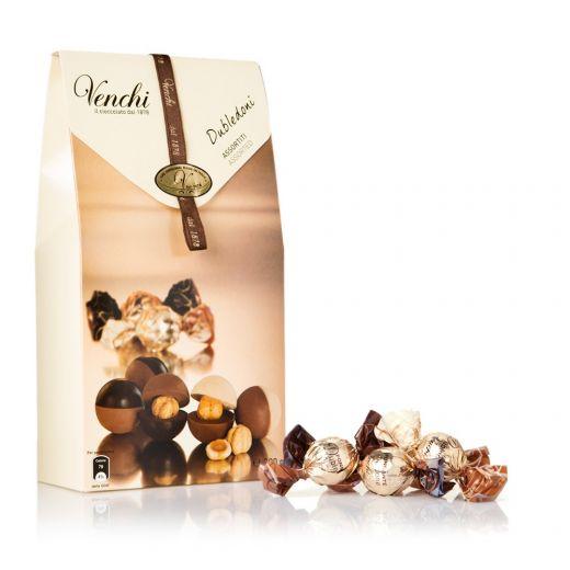 Конфеты шоколадные Venchi Ассорти орехов в шоколаде – 200 г (Италия)